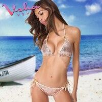 Vsha Women Sequins Bikini Swimwear Summer Bikini Sexy 2017 Hot Lady Bikini Set Bandage Swimsuit S