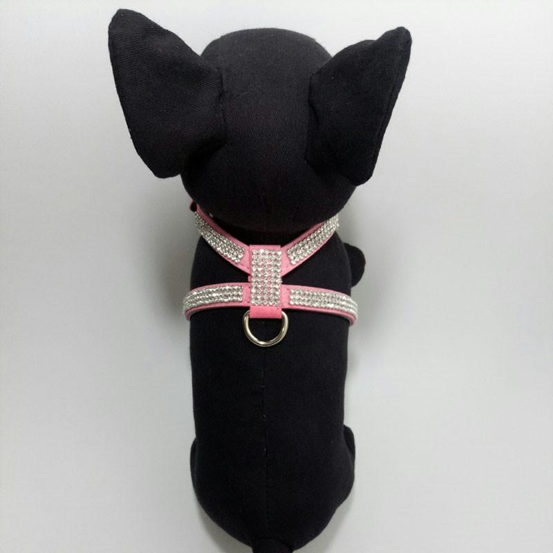 Fashion Diamond Pet Harness Dog Collar Bling Rhinestone PU Leather Dogs Collars for Chihuahua Small Medium Large Size Hot Pet Supplies14