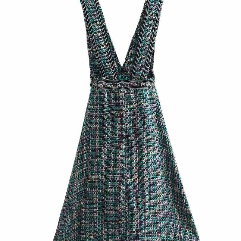 人気の新 BB60-9101 ヨーロッパとアメリカのファッショナブルなツイードベストドレス