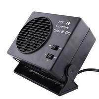 New 12V Car Portable 2 in 1 Electric Fan and Heater 300W Defroster Demister Quick Heating Speed qyh