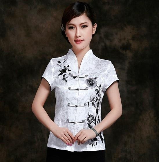 4a989abe ツ)_/¯Moda Biały Chiński odzież damska Bawełna Bluzki Koszula topy ...