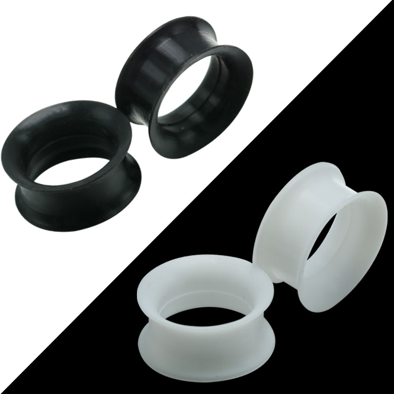 Jewelry Piercing Plug Stretcher Tunnels-Ear-Gauge Expanders-5-25mm Silicone Flexible