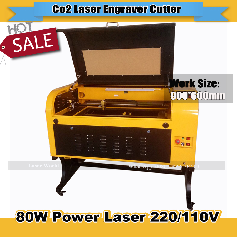 600*900mm CO2  Laser Cutting Engraving Machine 9060 Laser Engraver  USB Connect