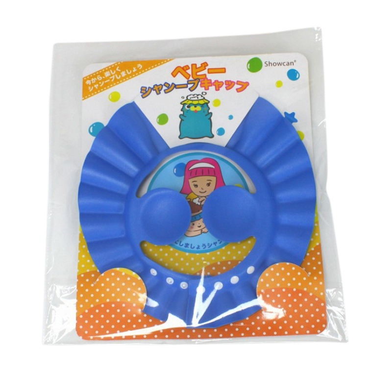 Adjustable EVA Soft Baby Shampoo Shower Cap Baby Care Bath Protection Cap Kid Caps 1 piece FREE