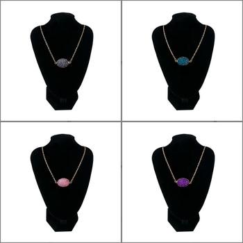 Collar con colgante Irregular Multi Color cuarzo piedra curación Reiki collar moda pareja joyería regalo especial