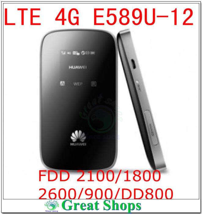 Unlocked Huawei E589u-12 4G LTE FDD 2100/1800/2600/900/DD800 WIFI 3g Modem Pocket Mobile Hotspot Router PK e587 mf90 e5776 модем маршрутизатор huawei e3276t 150mbps 3560mah 4g 3g lte 2100 1800 2600 900 800 mhz hsdpa wifi wi fi pk e3276 e5776