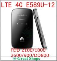 Unlocked Huawei E589u-12 4G LTE FDD 2100/1800/2600/900/DD800 WIFI 3g Modem Pocket Mobile Hotspot Router PK e587 mf90 e5776