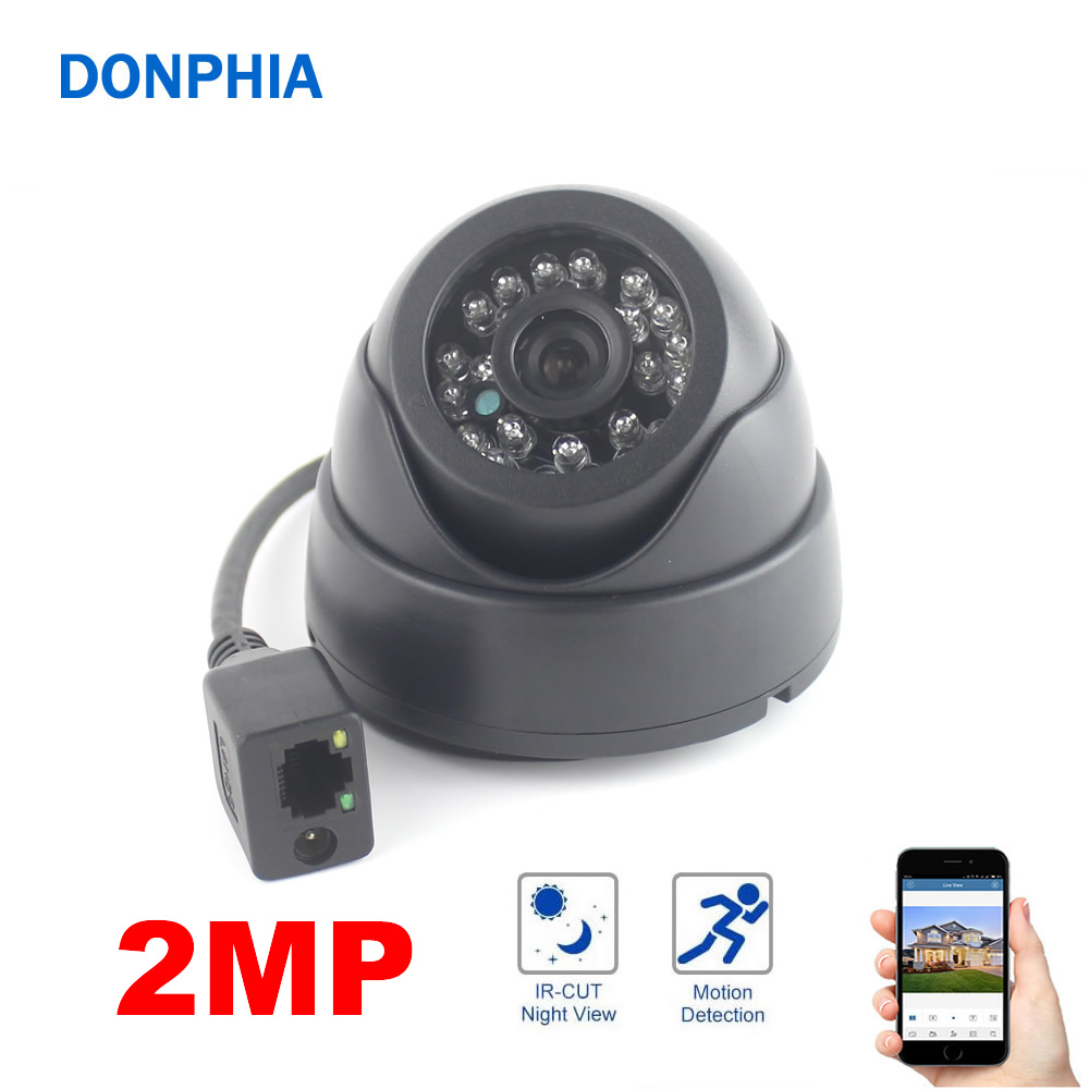 1080P IP Camera 2MP H62 CMOS Sensor 24PCS LEDs IR Night Vision Indoor Dome Surveillance Security Camera Mobile phone APP