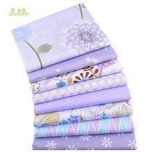 Chainho фиолетовый цветочный принт саржевая хлопковая ткань
