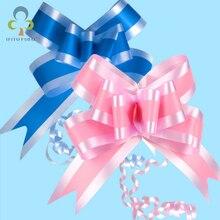 10 шт./лот, 2 цвета, органза, бант, лента для свадьбы, украшение для автомобиля, подарочная упаковка, упаковка, обёрточная бумага, GYH