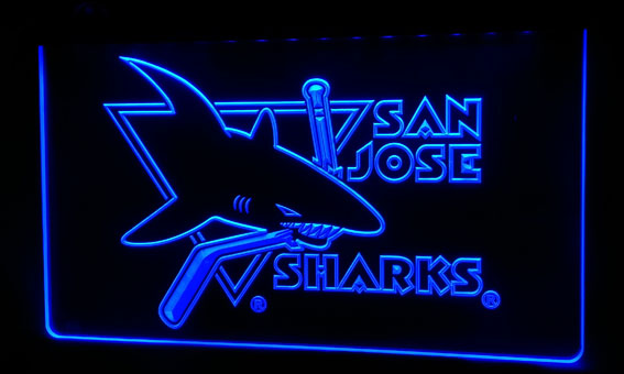 Ls185-b San-jose-sharks-neon Light Sign Decor Free Shipping Dropshipping Wholesale 8 Colors To Choose Can Be Repeatedly Remolded. Home Decor