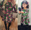 New Women Baby Girls Santa Print Christmas deer Party Dress Mother And Daughter Match Dress New 2017 Long Sleeve Family Suits