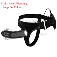 BDSM new hollow design mulit speed Strap on dildo vibrator elastic harness strap on penis Anal vaginal massage Dildo Sex Toys