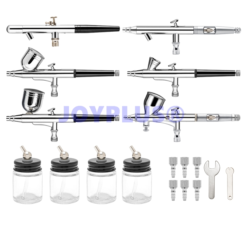 Professional Airbrush Kit with 6pcs Different Airbrushes One Kit meet all your Airbrush Need