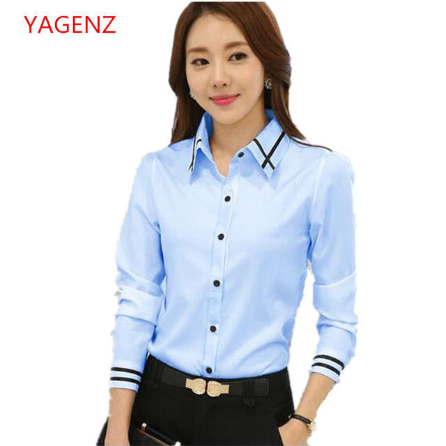 d2b2a060d1 US $7.18 48% OFF|Large size Students Shirt Young women spring overalls  Women's professional clothing NEW White shirt Cheap clothes china BN3110-in  ...