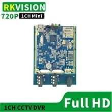 HD 1CH DVR Mini TF card recording board CCTV video module Support U disk Hard disk storage AHD720P/CVBS signal car hard disk video recorder supports 2t hard disk 128g memory card storage ahd4 road mdvr direct sales