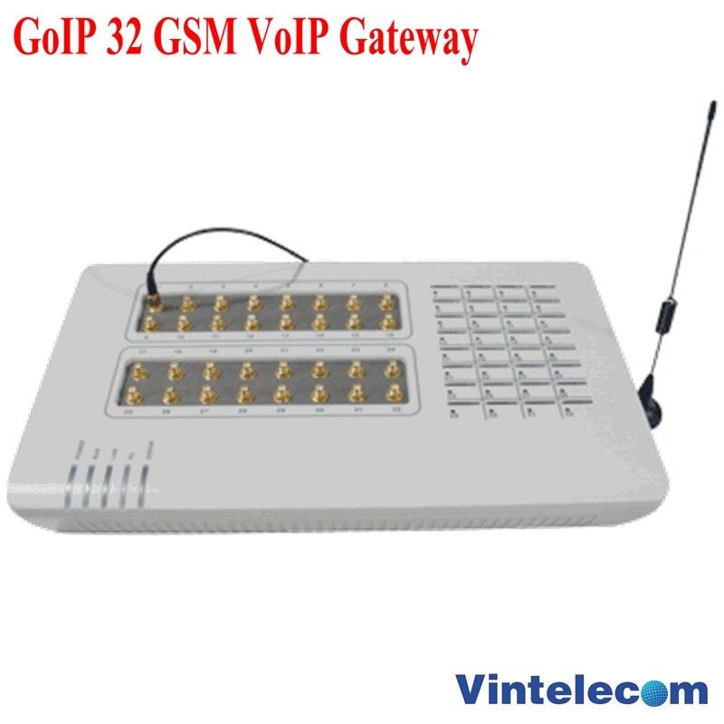 Passerelle VOIP GoIP 32 GSM/GoIP32 pour IP PBX/routeur/télécommande de soutien/avec antennes courtes