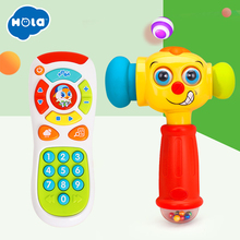 Купить с кэшбэком Baby Toys Toddler Learning Click and Count Remote & Electric Music Sound Play Hammer Funny Interactive Sound Effect Music Toys
