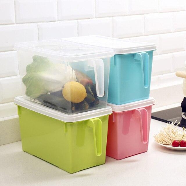 Refrigerator Storage Container Box with Lid Freezer Organizer Bins for Kitchen & Refrigerator Storage Container Box with Lid Freezer Organizer Bins ...
