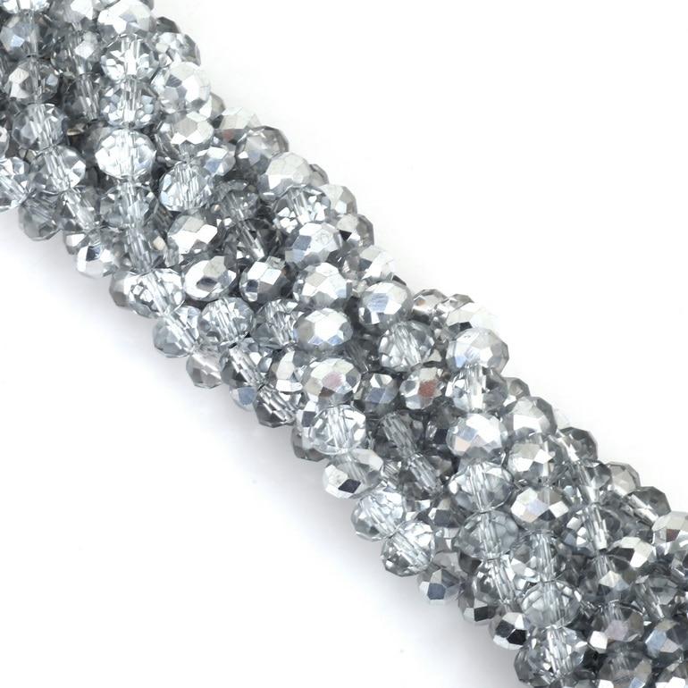 2 мм 3 мм 4 мм 6 мм 8 мм Rondelle австрийские кристаллические граненые бусины стеклянные бусины Свободные разделительные бусины для изготовления браслетов своими руками - Цвет: Style-11