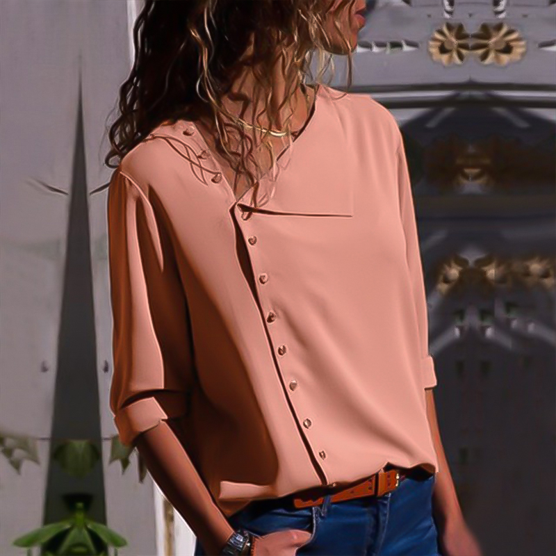 See Through Top Women Sexy Shirt Womens Tops and Blouses Button Irregular Oblique Collar Long Sleeve Blouse Shirt Long Sleeve in Blouses amp Shirts from Women 39 s Clothing