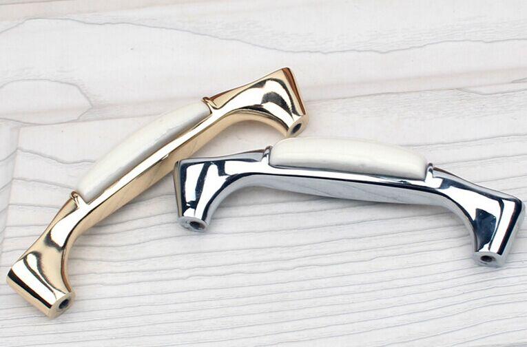 96mm blanc en céramique commode poignées tire boutons bronze argent goldern armoires de cuisine tiroir tire boutons moderne rétro poignées - 5