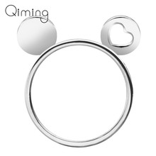Hart Oren Mickey Ring Muis Knuckle Ring Anel Feminino Boho Anel De Formatura Bague Muis Knuckle Ring Sieraden(China)
