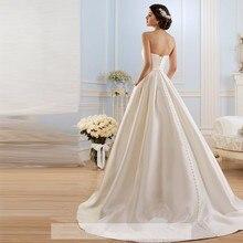 Vintage Pockets Bow China Vestidos De Novia Backless Plus Size Button Bride Bridal Gowns