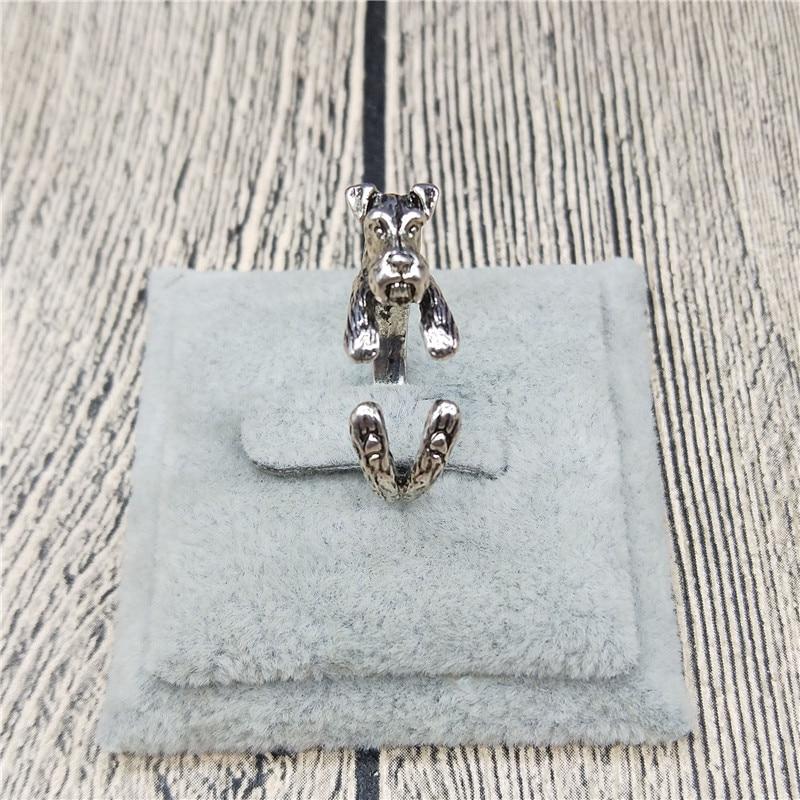 Vintage Animal Schnauzer Adjustable Ring Fashion Women Men Jewelry Couple Promise Rings World of Warcraft