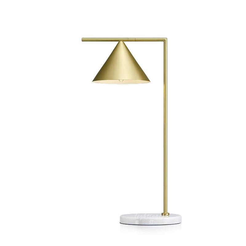 Led au design moderne lampe de table pour chambre bureau lampe de bureau réglable or abat-jour lampe de table marbre stand e27 ampoule led