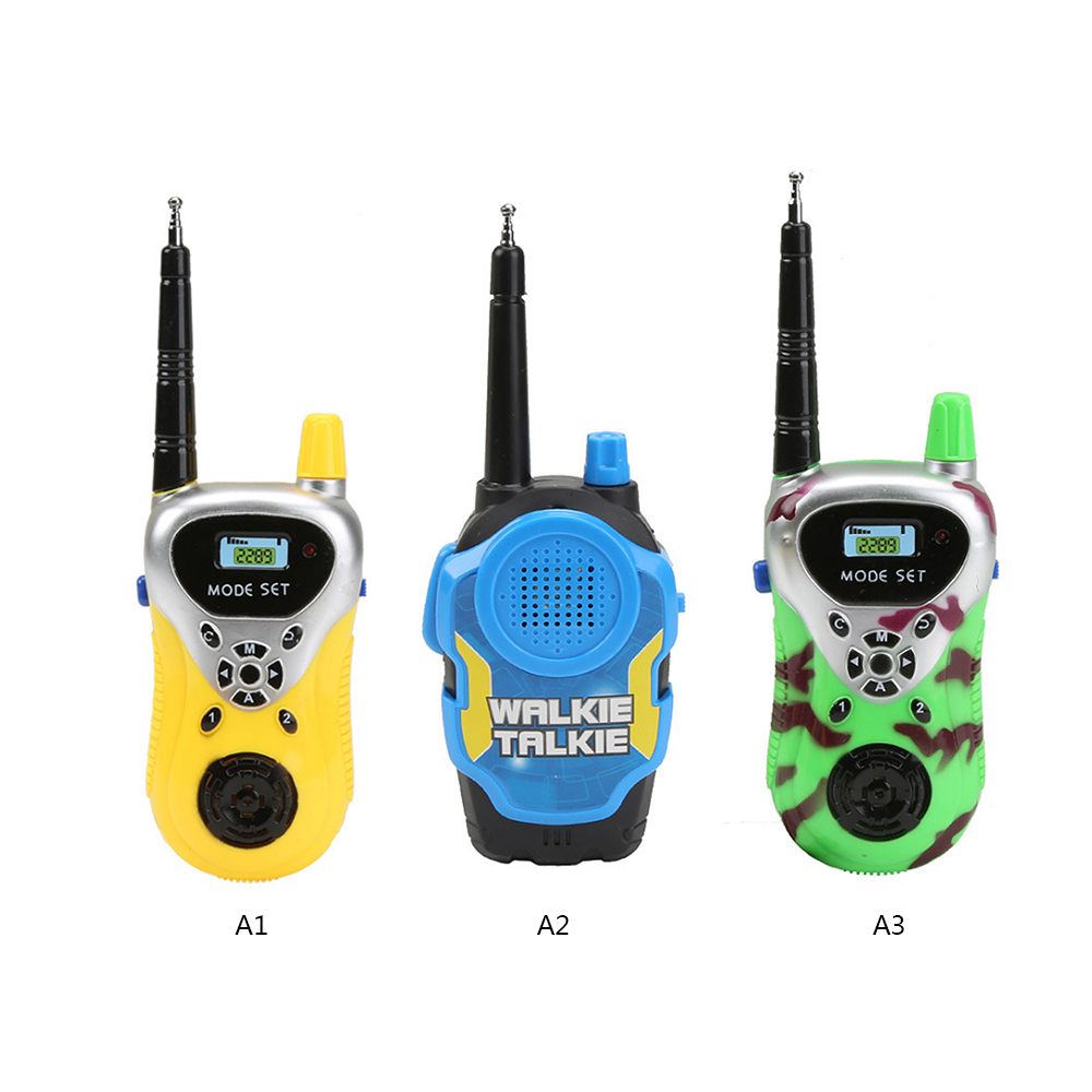 2pcs/Lot Remote Wireless Call Electric Walkie-talkie Electric Plastic Toys Two Way Radio Long Range Handheld Toys For Children