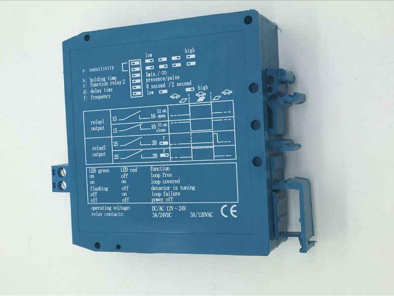 Cztery klasy regulowany podwójny 12 V/24VDC detektor pętli pojazdu magnetyczne Autocontrol M1H kontroli sygnału