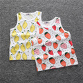 Summer baby boy and girl sleeveless T-shirt cute Fruit animal round neck vest vetement enfant garcon