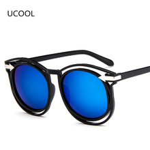 UCOOL The New Hollow Arrow Sunglasses Fashion Retro Women Personality Sunglasses Hipster Wild Oculos de sol das mulheres