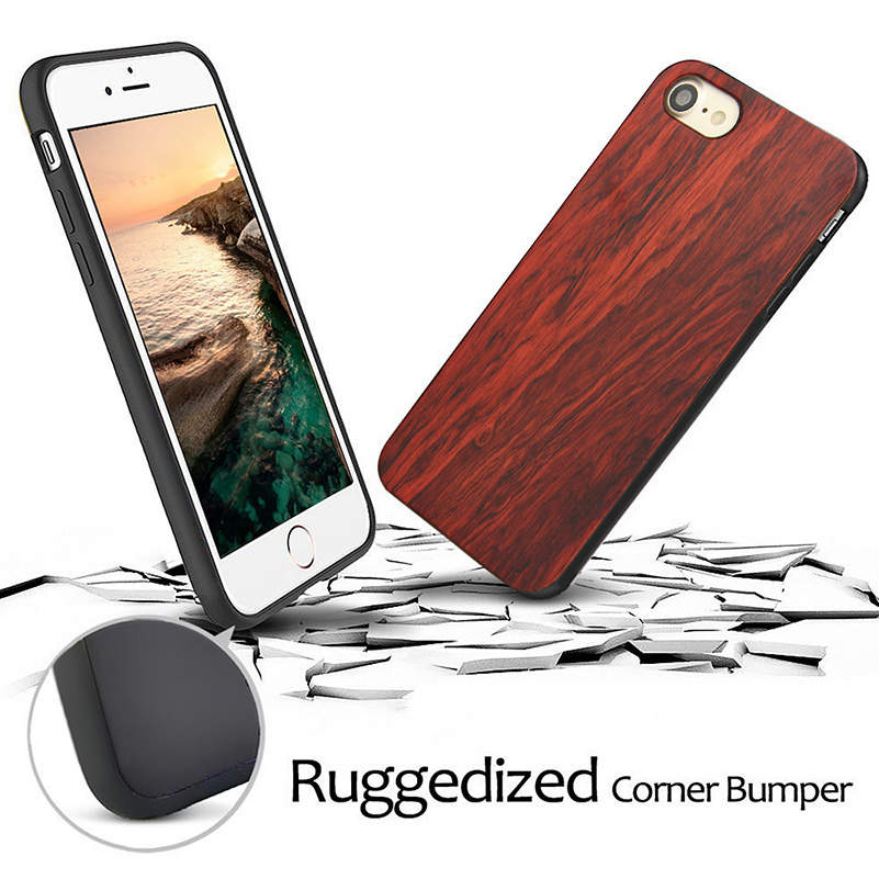 Wood Phone Cases For iPhone 7 Case 8 Natural Bamboo Wooden 3