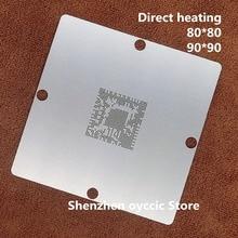 Doğrudan ısıtma 80*80 90*90 LGE2122 LGE2122 BTAH BGA Stencil Şablon