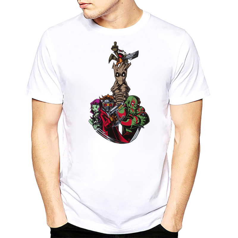Guardians Of The Galaxy 80s Logo Printed T Shirts Camiseta T-shirts Couple Short Sleeve Plus Size s-xxxl Men Shirts