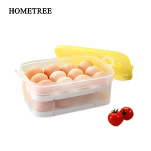 HOMETREE Kitchen 24 egg Storage Boxes Double Plastic Egg Storage Box Food grade PP Multifunction Storage Container Product H1116