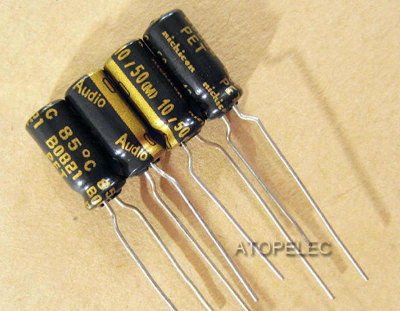 1 cái Nichicon ÂM THANH Dòng 10 uF/50 V Điện Phân Tụ Hi-Fi Audio