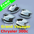 Chrysler 300c / Grand Voyager Chrome ABS Door Handle Bowl Cover Trims (4pcs/lot) free shipping