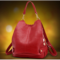 2017 Fashion Small Women Backpack Premium PU Mini Female College Schoolbag Red Blue Black Ladies Rucksack