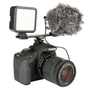 Image 4 - Ulanzi Aluminium Mikrofon Dual Kalt Schuh Montieren Verlängerung Bar Platte Vlogging Zubehör für Stativ Video licht Kamera Filmemacher