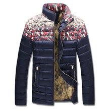 Зимняя Куртка Мужчины 2016 Новый мужской Хлопок Пальто Молнии Мужская Куртка Повседневная Толстая Пиджаки Для Мужчин Одежда Мужской