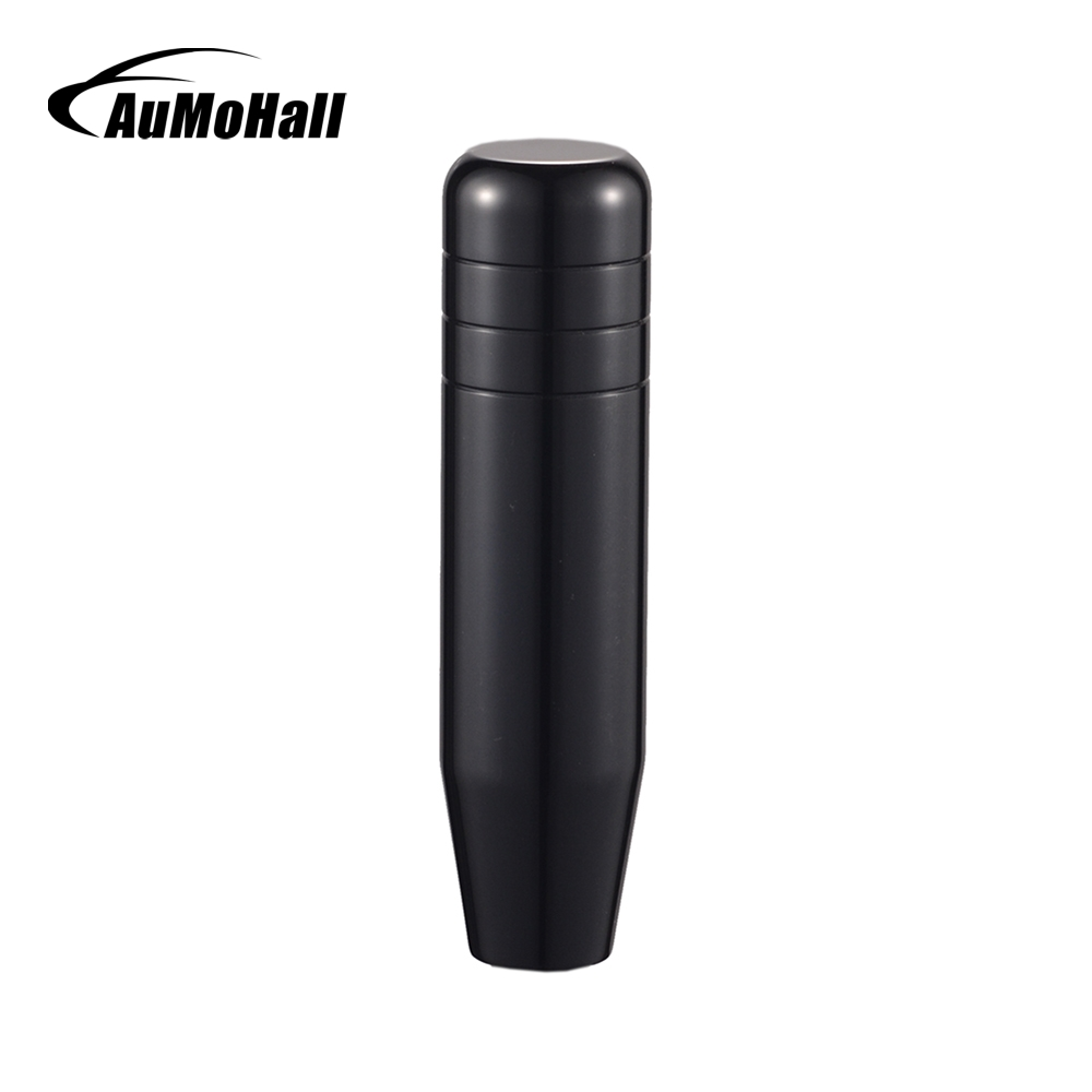 AuMoHall 130mm Universal Gear Shift Knob Aluminum Alloy Car Gear Knobs universal car cow leather aluminum alloy shift gear knob black silver