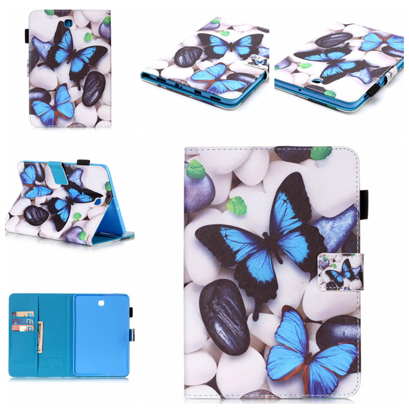 For Samsung Galaxy Tab S2 8.0 SM T710 T715 T715N Tablet cases Flip PU Leather Stand case Cover For Samsung Tab S2 8.0+Film+Pen