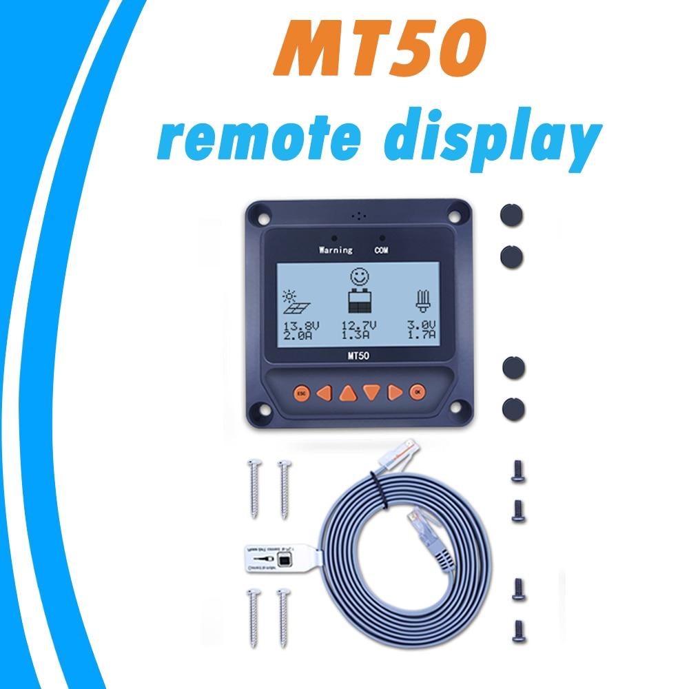 Medidor remoto pantalla MT-50 para EPever EPsolar MPPT regulador de carga Solar Tracer-un trazador-BN TRIRON XTRA ViewStar -Es serie BN