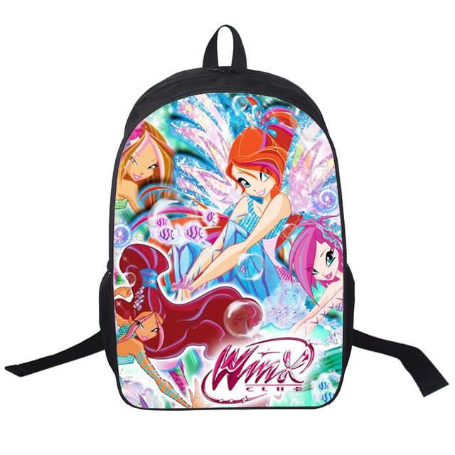 e62107eb742e Новая школьная сумка Winx Club для студентов школьные рюкзаки книга сумки  для подростков бабочка принцесса детские