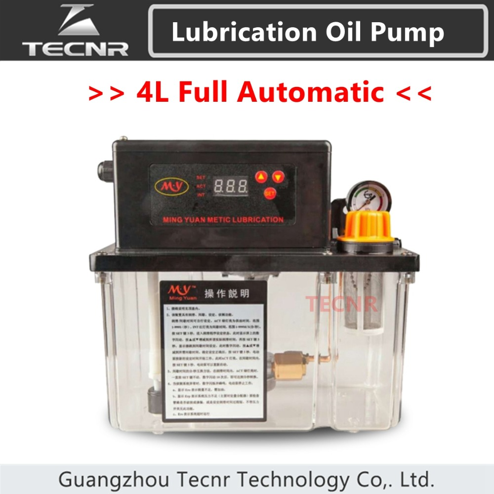TECNR CNC fully Automatic Lubrication oil pump 4L digital electronic timer gear pumps 220V for cnc machine