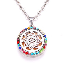 Colorful zircon windmill Essential Oil Aroma Diffuser Necklace Owl cat cute animal series Perfume Lockets Pendant Necklace(China)