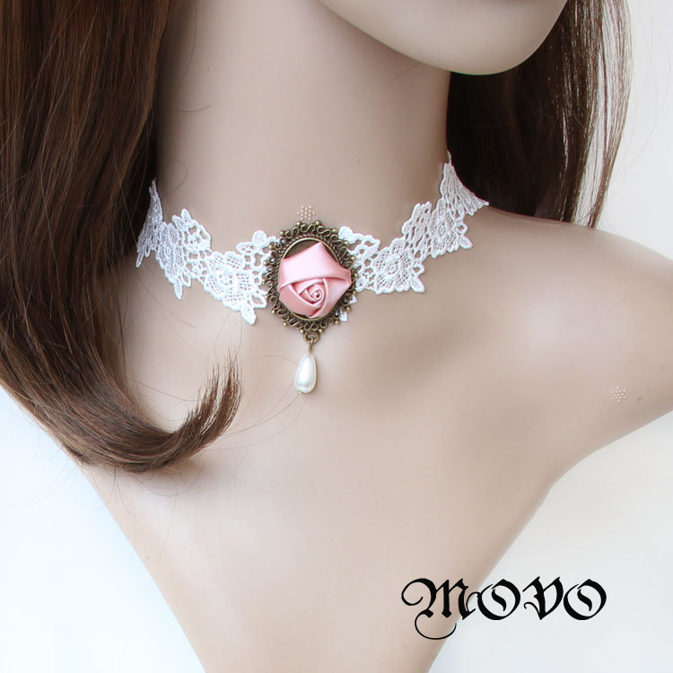 Lace Necklace Female Bride Accessories New Short Chain Collar